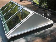 Aluminium lichtstraat van Luxlight serie Basic, model ZD - zadeldak