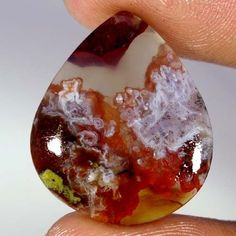 19.65Cts. 100% Natural Pseudomorph Agate Pear Cabochon ~Mind Blowing~ Gemstones #Handmade
