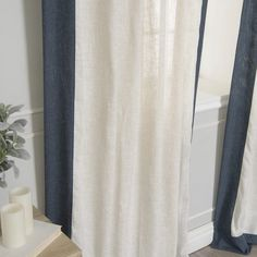 Shop for Aurora Home Colorblock Border Linen Blend Curtain Panel Pair - 52 x Get free delivery On EVERYTHING* Overstock - Your Online Home Decor Outlet Store! Home Curtains, Panel Curtains, Home Decor Outlet, Color Blocking, Diffuser, Aurora, Living Spaces, Shopping, Furniture