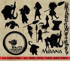 Moana silhouet Disney Princess Moana Disney svg door GypsysClipart