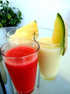 Milk Shakes, Sumo Natural, Smoothies, Comidas Light, Cantaloupe, Juice, Healthy Recipes, Vegan, Fruit