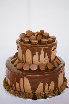 Grooms Cake, chocolate peanut butter cup cake.  Cakes by Tanis.  Photography by Magnolia Pair.