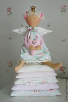 Куклы Тильды ручной работы. Ярмарка Мастеров - ручная работа Тильда Принцесса на горошине. Handmade.