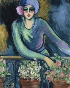 Jean-Pierre Cassigneul (French, b. 1935) -  Elégante au balcon