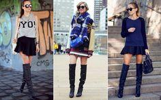 Bota over the knee: como criar looks de frio mega estilosos