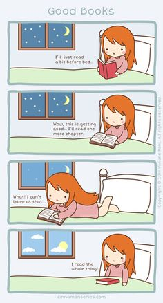 How to properly read before bed.