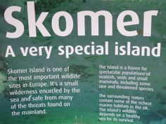 Explanatory notes about why this island is so special - at the information centre at the Old Farm