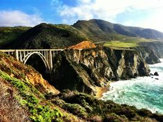 A Gorgeous early morning drive along Highway One, taking in the Turquoise pacific and crossing the Bixby Bridge into the Heaven that is BIG SUR :)