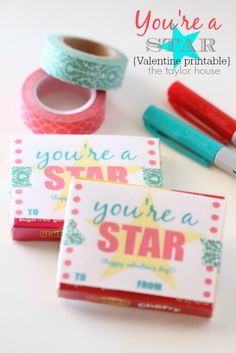 DIY Valentine Printable: You're A Star - The Taylor House