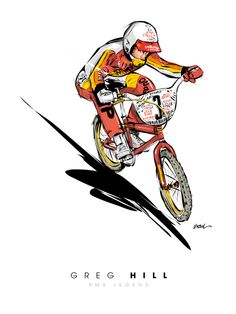 GREG HILL - BMX LEGEND illustration Christophe BOUL www.boulplanet.com