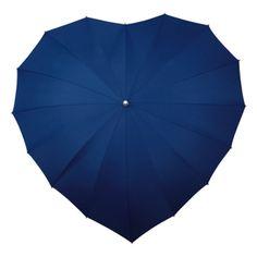 Heart Umbrella Dark Blue