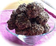 Pink-Vegan: Chocolate Peanut Butter Coconut Banana Oat Balls