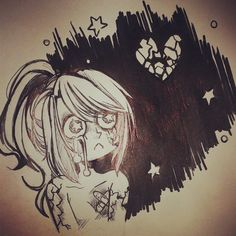Broken Heart Mizz discovered by Maily Lastra on We Heart It Broken Heart Sketch, Broken Heart Drawings, Broken Heart Art, Mizz Chama, Finding Your Soulmate, Find Image, We Heart It, Anime, Drawing Ideas
