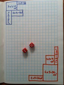 Great game for area and perimeter. A dice game for 2 or 3 players. Good way for students to practice this standard.