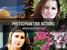 Actions are perfect add-ons that allow using certain effect to multiple images. Choose among free Photoshop actions for painting and sketch effects.