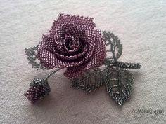 Брошь-роза по МК   biser.info - всё о бисере и бисерном творчестве