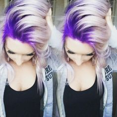 Formula For This Gorg Purple To Platinum Melt Stylist Selfie! Formula For This Gorg Purple To Platinum Melt Love Hair, Great Hair, Gorgeous Hair, Dye My Hair, New Hair, Hair Dos, Pretty Hairstyles, Updo Hairstyle, Bride Hairstyles