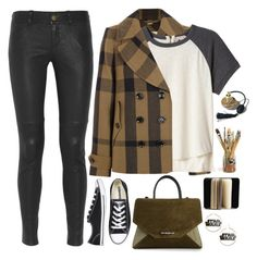 """""""2065. Dark Side of Colors"""" by chocolatepumma ❤ liked on Polyvore featuring Burberry, Rebecca Taylor, Current/Elliott, Converse and Givenchy"""