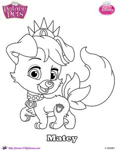Disney Princess Palace Pet Coloring Page Of Matey