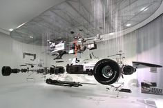 Love exploded views of technical objects: Deconstruction of F1 car @ Mercedes Benz World