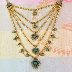 This gold and turquoise necklace from Amrapali would make a perfect addition to your summer wardrobe of easy sun dresses and light tees. #LoveGold