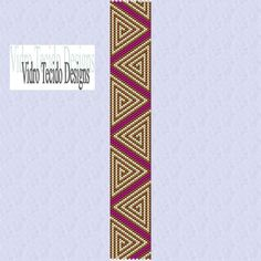 Swirling Triangles Peyote Stitch Bracelet Pattern por vidrotecido, $2.00