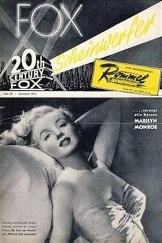 1952: Fox Scheinwerfer (German) magazine cover of Marilyn Monroe .... #marilynmonroe #normajeane #vintagemagazine #pinup #iconic #raremagazine #magazinecover #hollywoodactress #1950s
