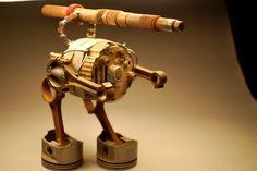 Standing Starwars Robot Metal Sculpture by dremeWORKS on Etsy Welding Art, Welding Projects, Car Part Art, Metal Art Sculpture, Scrap Metal Art, Cannon, Metal Working, Sculptures, Star Wars