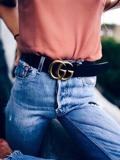 jeans and gucci belt