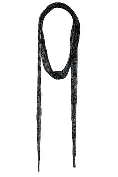 Beaded Black Scarf Necklace- Topshop