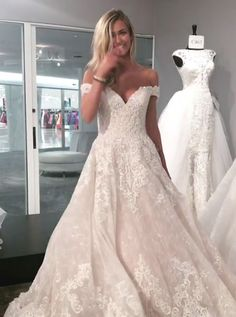 Image result for a line off the shoulder lace wedding dress