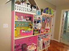 American Girl House out of Ikea bookshelves!