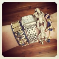 Navy and Pink Arm Candy