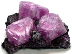 mineralists:  Purple Alum crystals on matrix