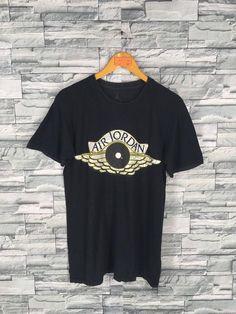 7718d2ce Vintage AIR JORDAN T shirt Medium Nike Air Jordan Basketball Nba Sports T  shirt Nike Ballwing Tshirt