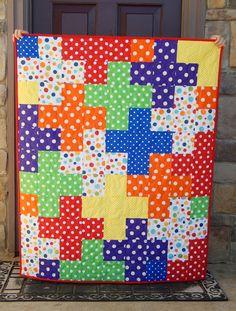 The Fleming's Nine: Polka Dot Baby Quilt