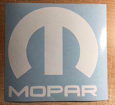 Mopar Vinyl Decal Sticker Graphic Logo Dodge Jeep Ram Chrysler Car Bumper Window #Unbranded #67YearVinyl