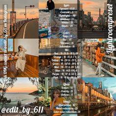 Editing Pictures, Photo Editing, Vsco Photography, Lightroom Tutorial, Photo Effects, Lightroom Presets, Instagram, Orange, Fotografia