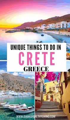 Are you heading to the beautiful Greek Islands and looking for unique things to do in Crete Greece? Whitewashed landscapes, deep blue seas, and a unique Greece Vacation, Greece Travel, Greece Trip, Visit Greece, Cruise Vacation, Vacations, Cool Places To Visit, Places To Travel, Travel Destinations