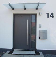 Hausnummer Anthrazit RAL 7016 Zahl 25 cm oder 30 cm hoch Türschild Tür Schild