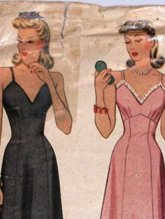 Lingerie Chemises Slips Gowns 1950's McCalls by TheIDconnection, $26.00