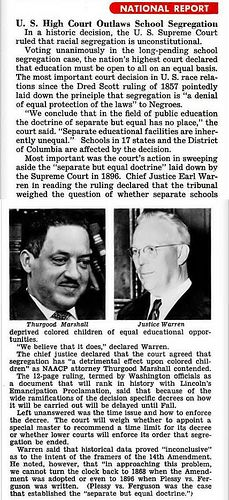 Brown vs Board of Education         US Supreme Court Outlaws School Segregation - Jet Magazine, May 27, 1954 by vieilles_annonces, via Flickr