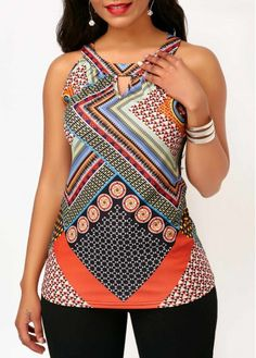 Stylish Tops For Girls, Trendy Tops, Trendy Fashion Tops, Trendy Tops For Women Short African Dresses, African Blouses, Latest African Fashion Dresses, African Print Fashion, Trendy Outfits, Trendy Fashion, Fashion Outfits, African Wear, Printed Tank Tops