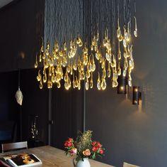 Ochre seed cloud chandelier. Such a beauty! Picture taken by me at the Ochre shop Pimlico Road London @ochreochre @ingrid_hollaar_blc_interiors #ochre #chandeliers #lighting #london @belgianpearlsblog
