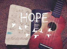 Hope guitar quotes music art guitar