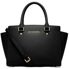 Michael Michael Kors Black Selma Medium Top Zip Satchel