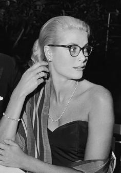 Grace Kelly...Love the cateye glasses