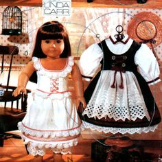 Vogue 9641 Early American Girl Doll Clothes Pattern18 Inch Doll Clothes Sewing Pattern Uncut Linda Carr 4 Outfits