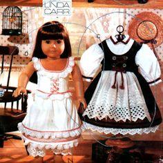 Patron de couture de vêtements Vogue 9641 Early American Girl Doll vêtements Pattern18 pouces poupée Uncut Linda Carr 4 tenues