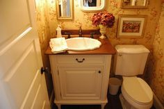 Custom Building - traditional - powder room - los angeles - Risvold Painting & Decorating
